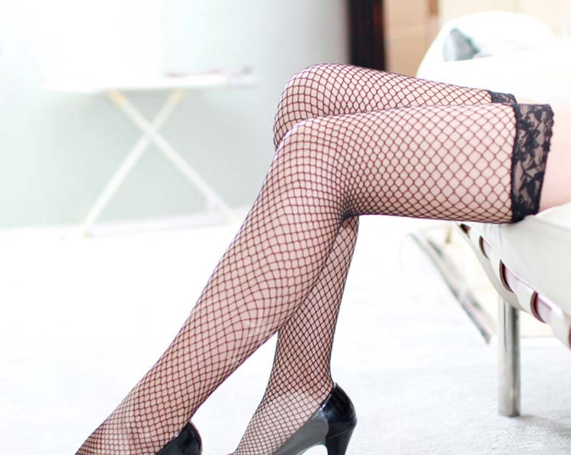 5 colors New Arrival Sexy Women Stockings Transparent Fishnet valentine 39 s gift black red plus size in Stockings from Underwear amp Sleepwears