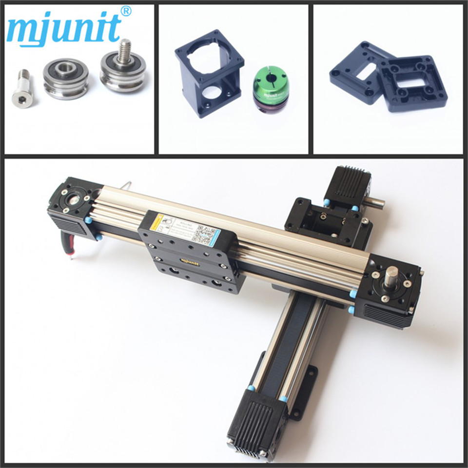 Linear Belt Drive Rail Aluminum Alloy  U shape Bearing Slide Unit Guide the manga guide to linear algebra toothed belt drive linear guideway