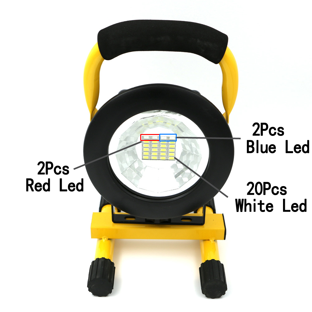 High Quality 30W 2400LM LED Camping Light 24 LEDs Outdoor Portable Lantern Camping Lamp Work Light Use 18650 + Charger