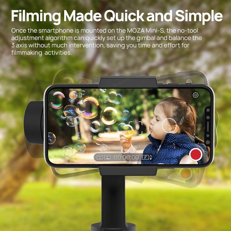 MOZA мини S 3 оси Gimbal стабилизатор Карманный складной для iPhone huawei Gopro действие Камера VS мини Ми zhiyunSmooth 4 - 6