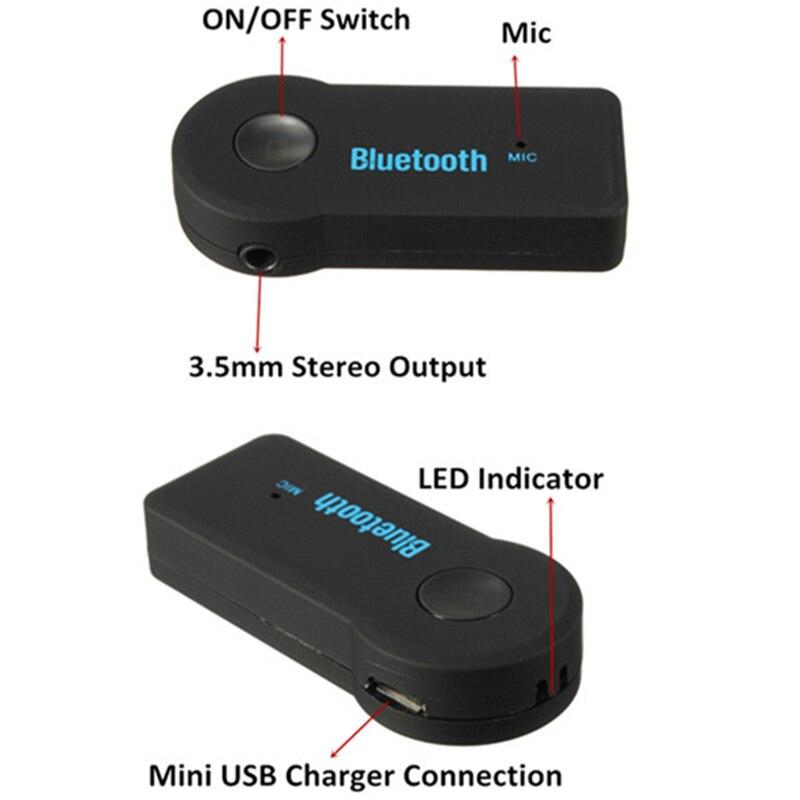 Portable Bluetooth Audio Récepteur de Musique Stéréo Rceiver Adaptateur pour Voiture iphone Transmetteur FM Kit De Voiture MP3 Radio Lecteur Bluetooth