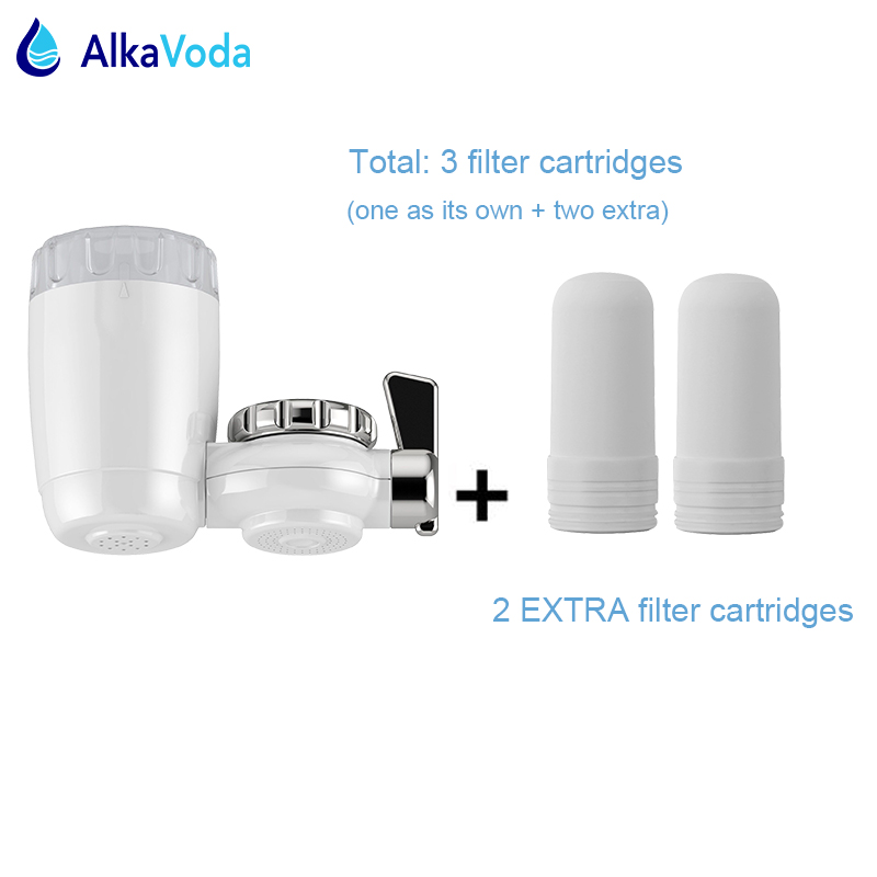 new 7 layers ceramic filtration kitchen faucet water filter purifier with two extra replaceable cartridge purificador - Ceramic Water Filter