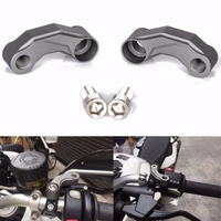 MAYITR Motorcycle Aluminum Mirrors Riser Extension Brackets Adapter For BMW R1200GS LC R1200 GS Adventure 2013