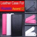 Caso para huawei ascend g7 alta qualidade baiwei marca flip caso capa de couro abrir cima e para baixo