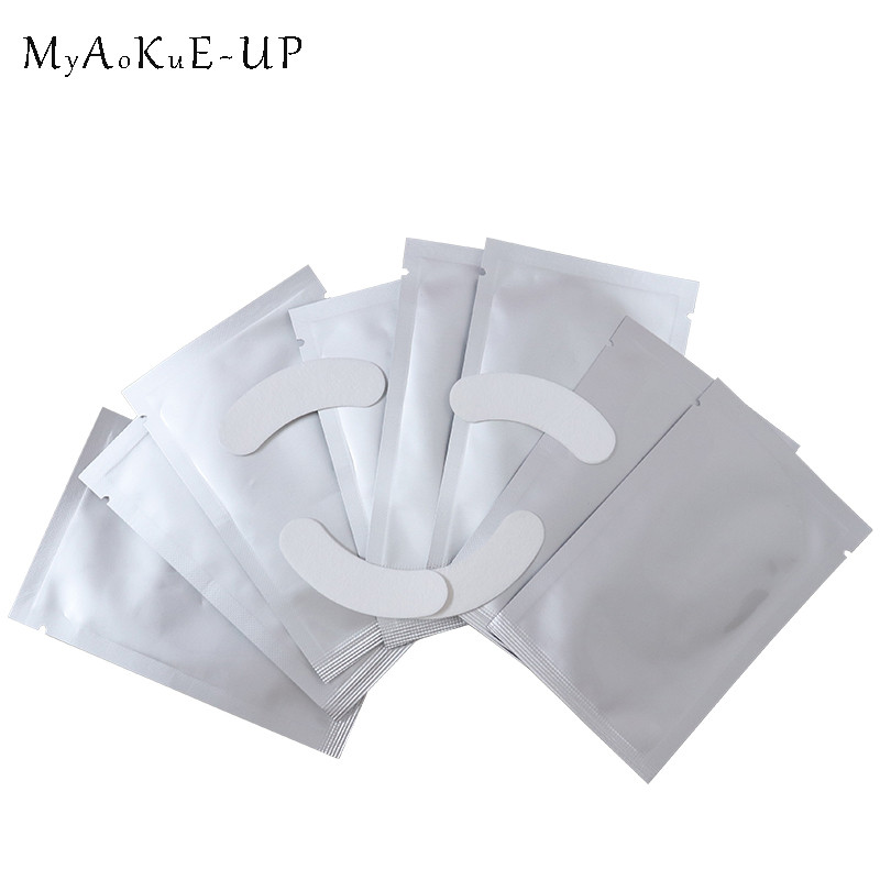 Eyelashes Paper Patches Tips Sticker Wraps Eyelash Extension Under Gel Eye Pads Eye lashes Makeup Tools 35 packs/70 pairs