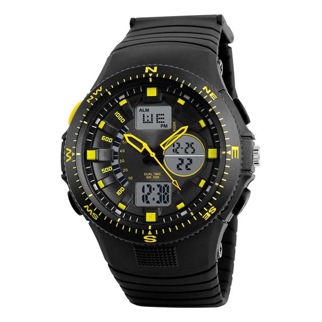 LED militar Automático a prueba de agua reloj de Los Hombres de Moda Reloj de calidad superior para hombre famoso reloj del ejército militar reloj de pulsera de lujo de la vendimia