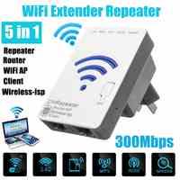 WLAN 300 Мбит/с расширитель повторитель мини маршрутизатор Внутренняя всенаправленная антенна WiFi усилитель сигнала расширитель для путешеств...