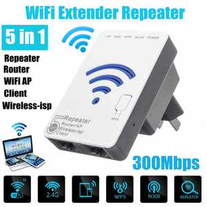 Mini Router Antenna Extender Repeater Wifi-Signal-Booster Omnidirectional Travel Home