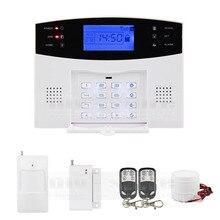 DIYSECUR 433MHz Wireless Wired GSM/SMS/TEXT/Dial Security Alarm System Auto-Dial Defense Zone For Garage Storage Home Garden