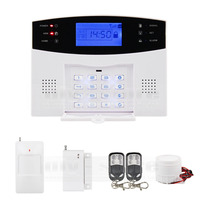 DIYSECUR 433MHz Wireless Wired GSM/SMS/TEXT/Dial Security Alarm System Auto Dial Defense Zone For Garage Storage Home Garden
