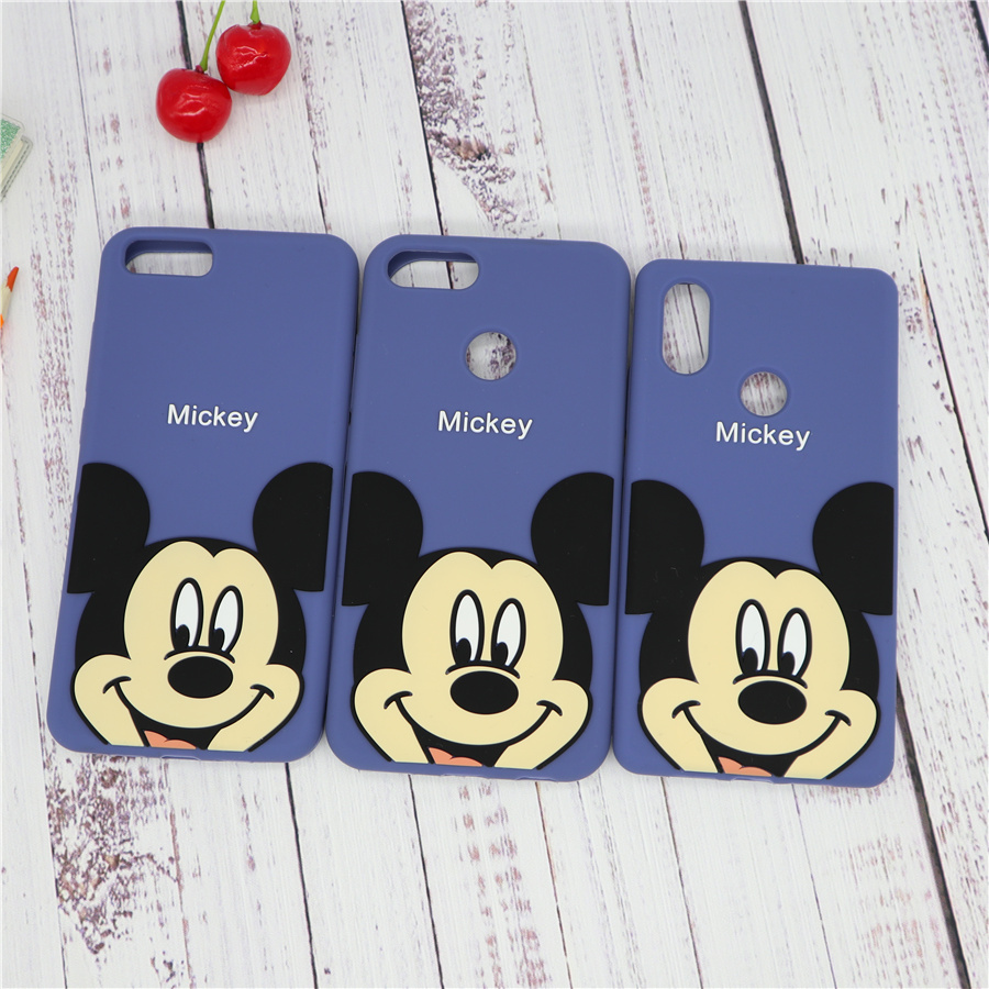 Cute Cartoon 3D <font><b>Mickey</b></font> Mouse Phone Case for <font><b>Xiaomi</b></font> <font><b>Mi</b></font> 6 8 SE Lite <font><b>A1</b></font> A2 <font><b>Mi</b></font> Note 3 5X 6X Soft Silicone Cover Coque <font><b>Fundas</b></font> Mi6 Mi8 image