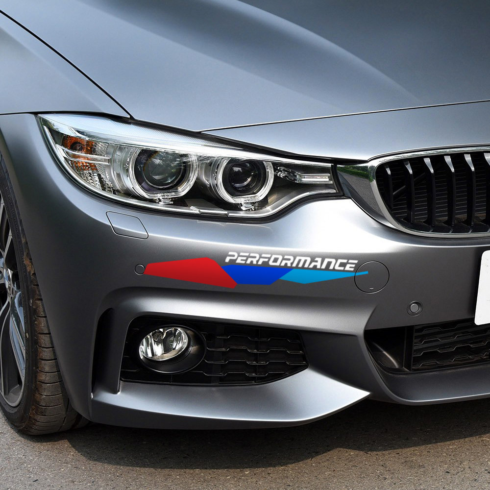 Front Bumper Decal New M Performance Stickers For BMW e90 e46 e39 e60 f30 f31 g30 f85 f16 f10 f34 x3 x4 x5 e70 f15 x6 M3 M5 Z4 maserati granturismo carbon spoiler