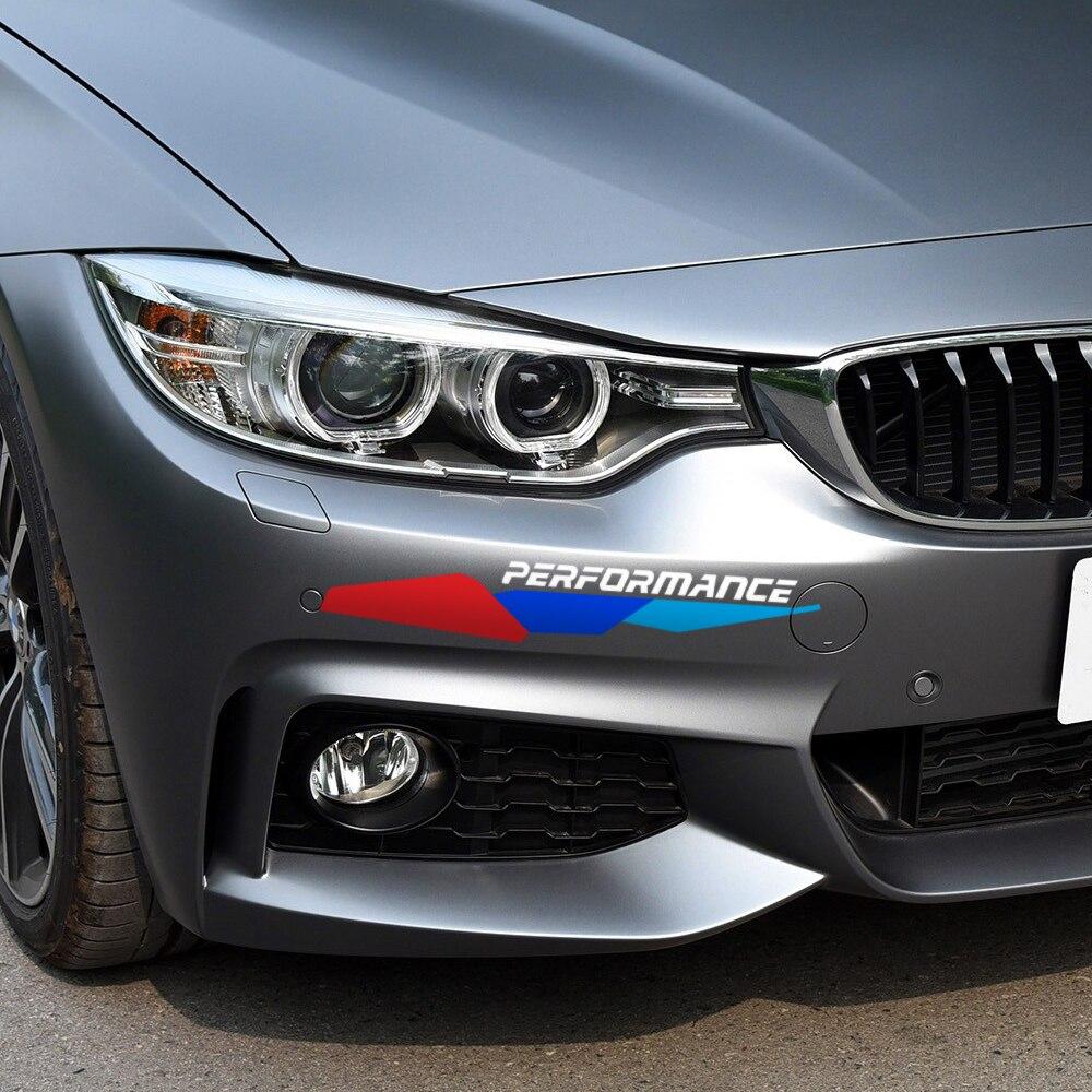 Front Stoßstange Aufkleber Neue M Leistung Aufkleber Für Bmw E90 E46 E39 E60 F30 F31 G30 F85 F16 F10 F34 X3 X4 X5 E70 F15 X6 M3 M5 Z4