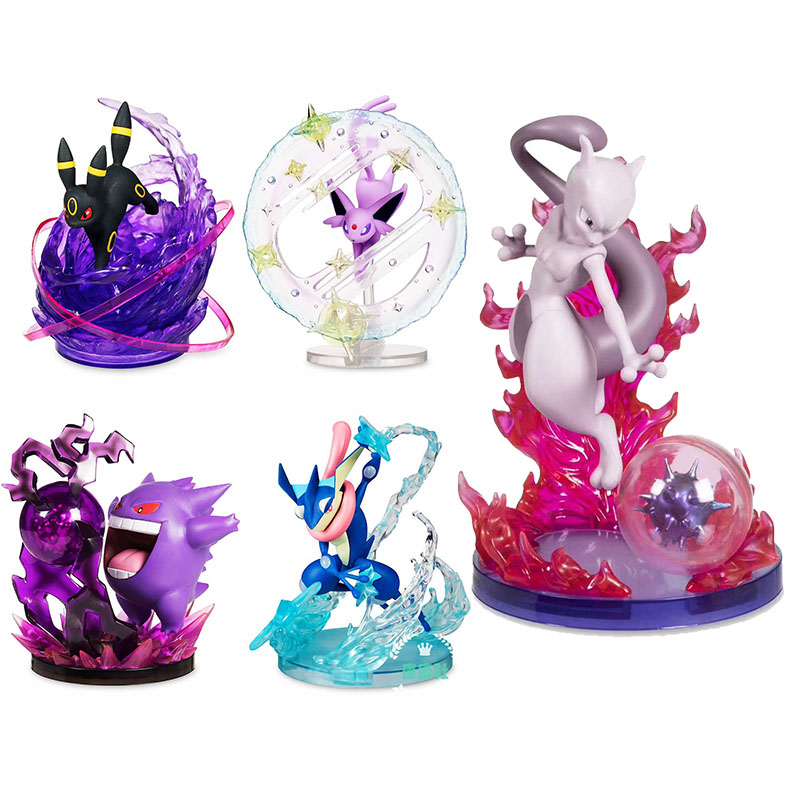 Japan Pokeball Detective Pikachu GK Gengar Mewtwo Umbreon Espeon Greninja PVC Action Figure Toys Collection Model Gifts 15cm