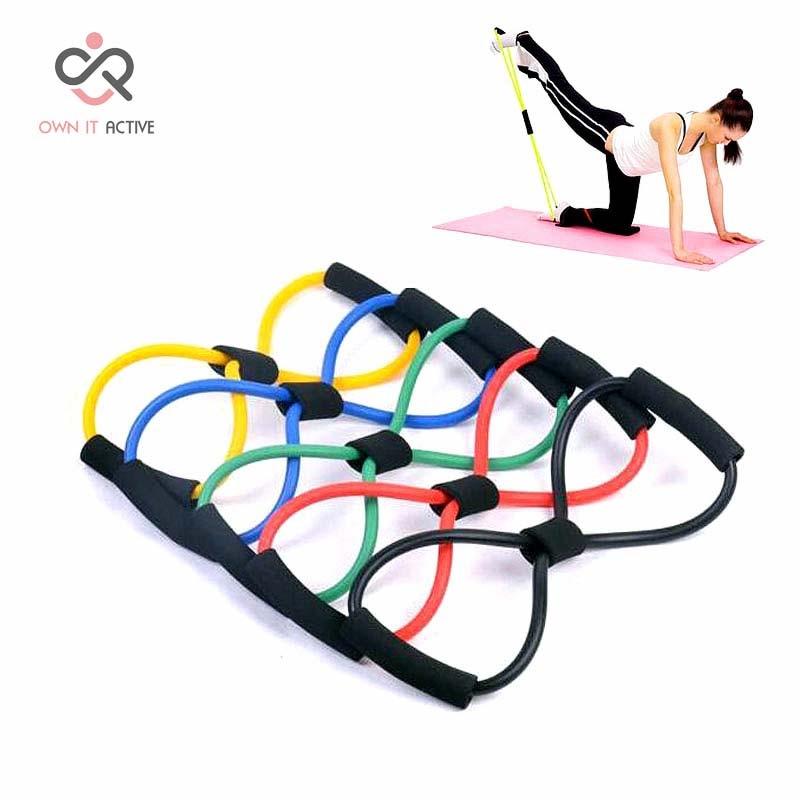 Direnç Eğitimi Kas Elastik Band Tüp Kilo Kontrolü Fitness Ekipmanları Yoga Için Renkli Dayanıklı