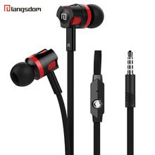 Original Langsdom JM26 Stereo Earphone Bass Earbuds with mic for iPhone xiaomi mobile phone and eaphone box