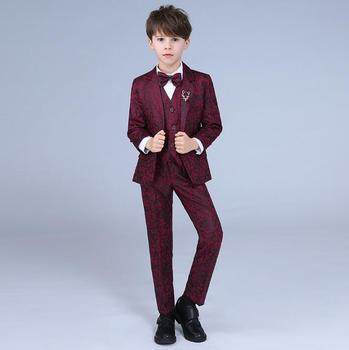 Children's Day wine red clothes men suits designs homme stage costumes singers child jacket men blazer dance star style dress