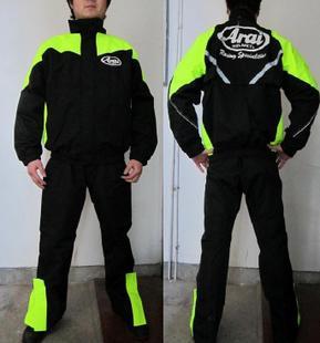 ARAI RAINCOAT,Motorcycle jacket motorbike raincoat suit motorcross Impermeable waterproof Fishing Black man & woman - VECCHIO MOTORCYCLE SUPPLIES Store store