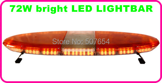Higher star 120cm DC12V,72W Led car warning lightbar,Led emergency light bar for police ambulance fire truck,11flash,waterproof