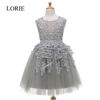 Grey Tulle Flower Girl Dresses For Weddings 2016 Vintage Lace Cupcake Dress Baby Floor Length Pageant