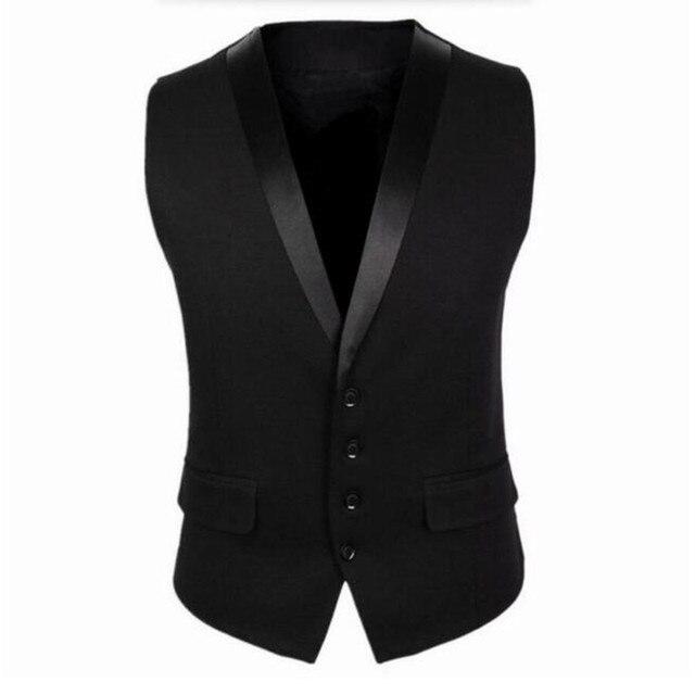 Черные Мужчины Костюм Жилет Четыре Кнопки Серый мужская Мода Свадьба Жилет Однобортный Мужская Куртка Без Рукавов