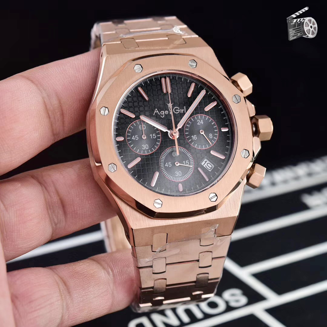 Luxury Brand New Chronograph Men Stopwatch Silver Rose Gold Black Stainless Steel 904L Sapphire Crystal Sport Watches 45mm AAA+Luxury Brand New Chronograph Men Stopwatch Silver Rose Gold Black Stainless Steel 904L Sapphire Crystal Sport Watches 45mm AAA+