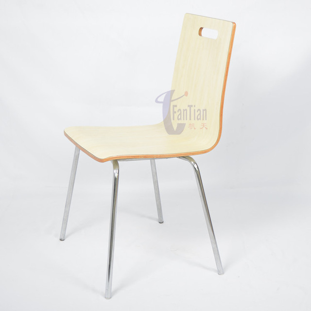 Restaurant Chairs Factory Direct Bending Plate With Stainless Steel Chair  Frame The Seat Simple Style Fast Food Restaurant Chair