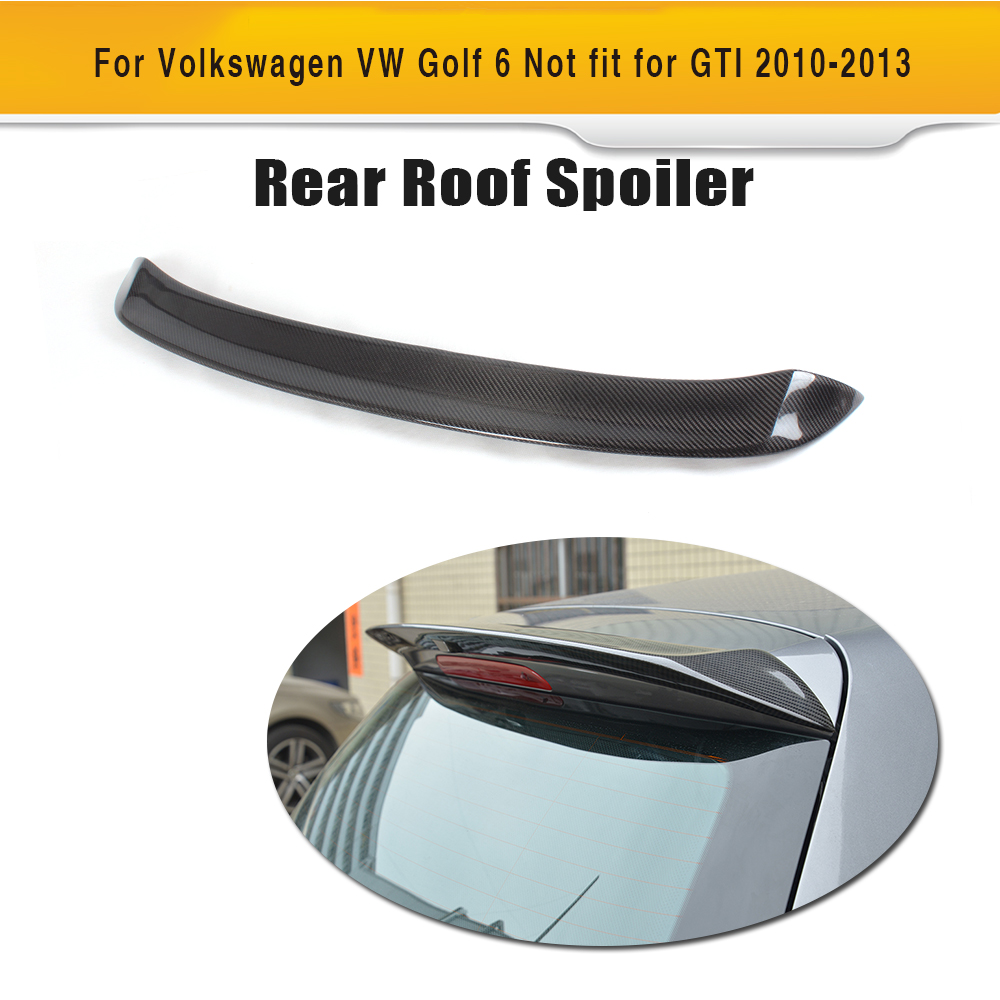 Carbon Fiber Car Rear Wing Trunk Lip Spoiler For Volkswagen VW <font><b>Golf</b></font> 6 Standard Non GTI <font><b>R</b></font> 2010 <font><b>2011</b></font> 2012 2013 image