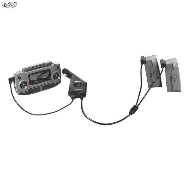 DC 12 16 v 3 Port Auto Ladegerät Batterie & USB Port Fernbedienung Lade Für DJI mavic 2 zoom/pro Drone Zubehör