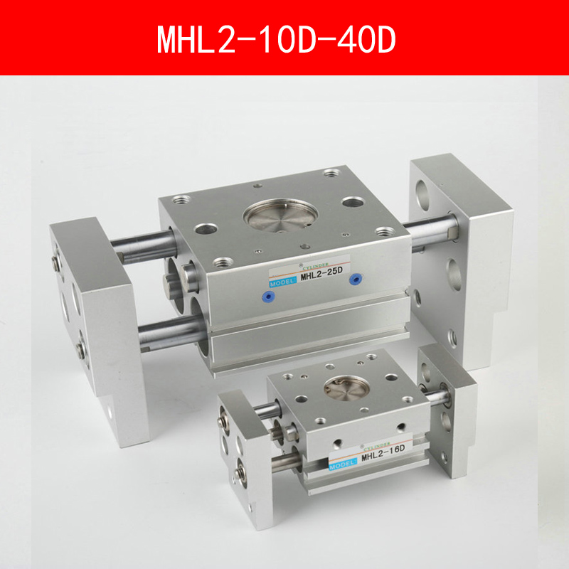 MHL2 10D 16D 20D 25D 32D 40D Double Acting Pneumatic Gripper Wide Type Air Gripper Parallel Cylinder Al Clamps Bore 10-40mm high quality double acting pneumatic robot gripper air cylinder mhc2 25d smc type angular style aluminium clamps