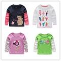 VIDMID Девушки футболка Дети майка Девочка С Длинным рукавом куртки кардиган рубашки Блузка одежды дети мультфильм хлопок свитер