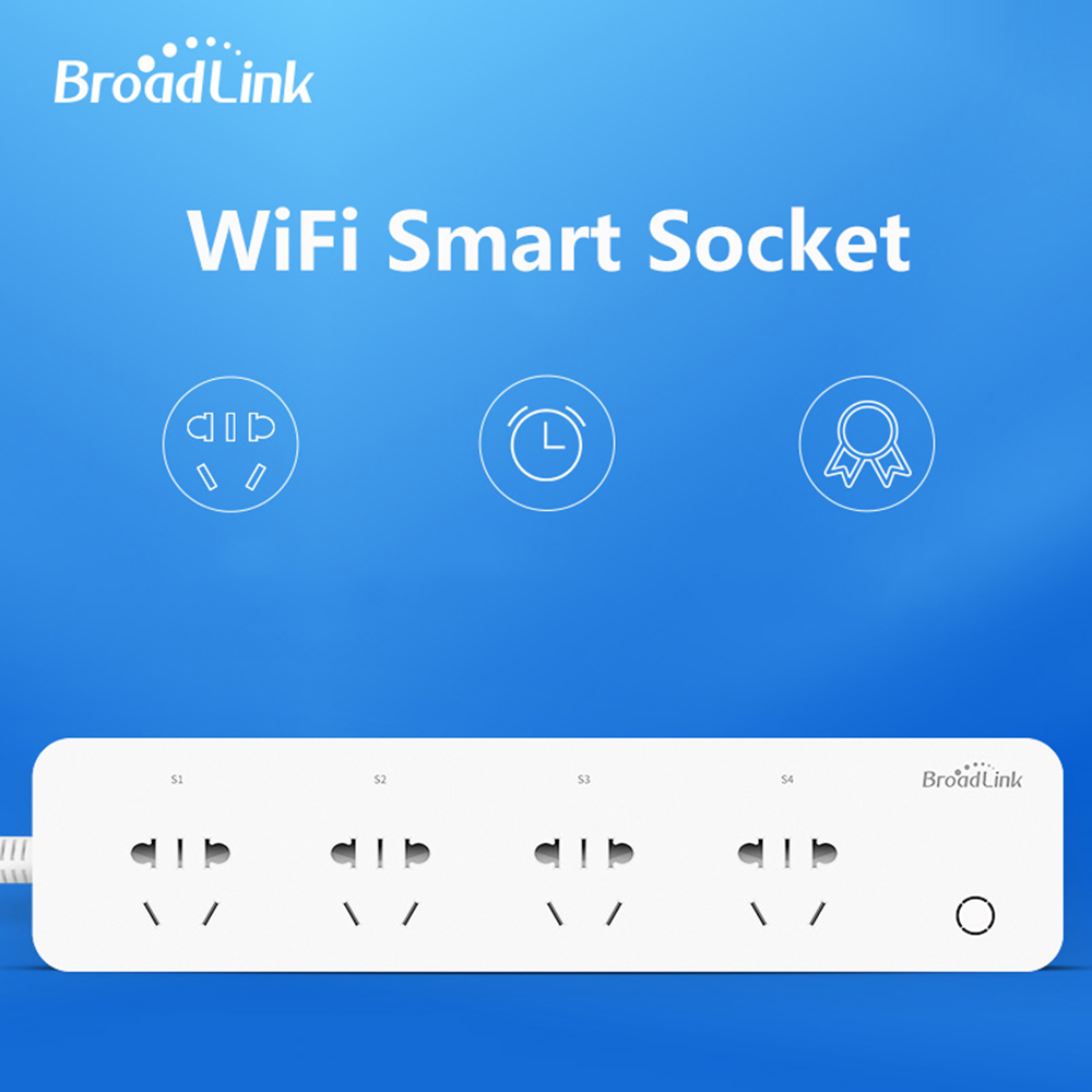 Original BroadLink MP1 Socket Plug WiFi Power Remote Control 4-Outlet Power Socket for Smart Home Automation System qiachip original wifi timing 10a power strip remote control available 4 outlet us plug power socket for smart home automation