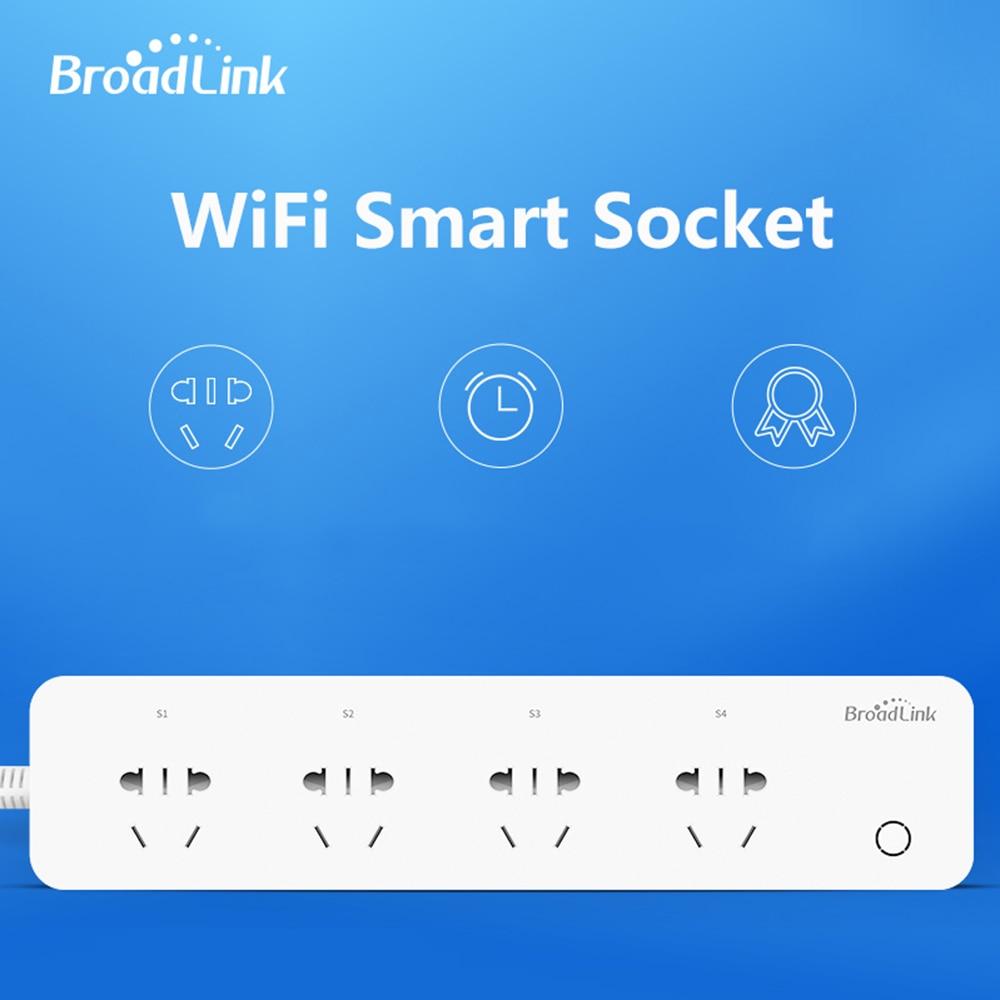 Original BroadLink MP1 Socket Plug WiFi Power Remote Control 4-Outlet Power Socket for Smart Home Automation System