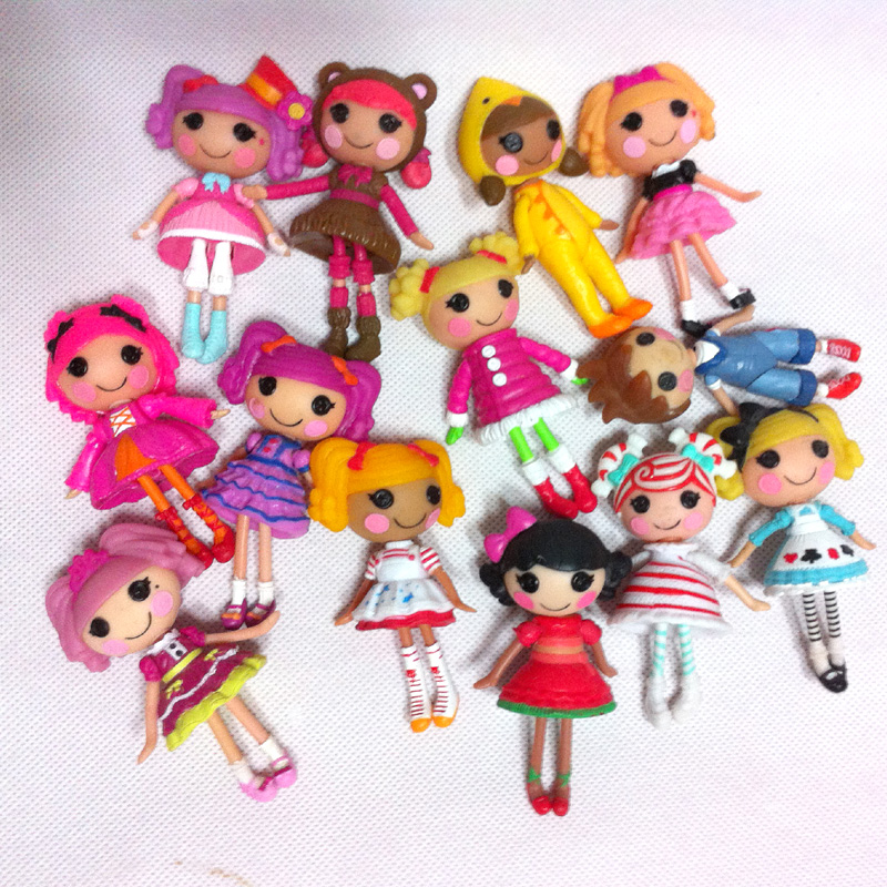 Wholesale 20pcs lot 3inch Lalaloopsy dolls accessories Mini Dolls For Girl s Toy Play House Each