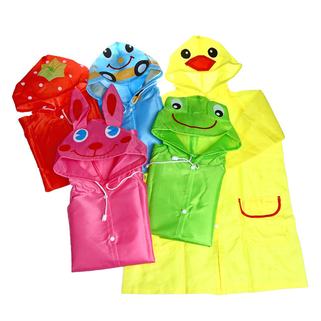 1 pz Carino Cartone Animato Animale Bambini Pioggia Cappotto Impermeabile Imperm