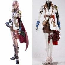 FINAL FANTASY XIII FF 13 FFXIII Lightning  Eclair Farron women cosplay costume custimize for any size