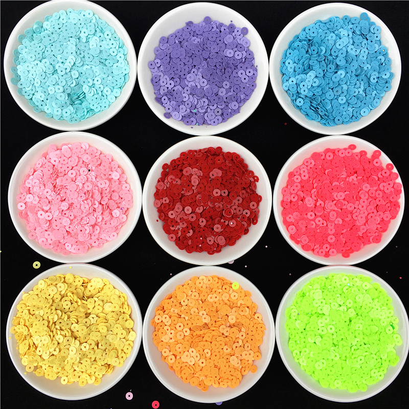 20g(4000pcs) 4mm Solid Colors Sequin Pvc Flat Round Loose Sequins  Paillettes Sewing Wedding Craft For Women Garment Accessories f1abdad4fde7