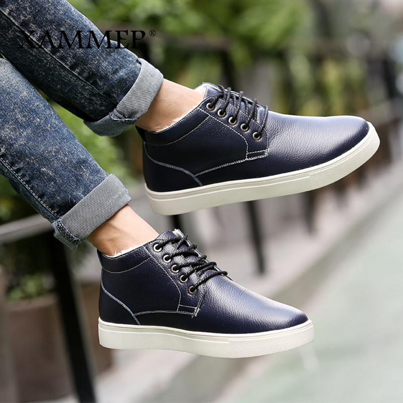 Sapatos Plush Size Xammep Big Da Flats Casuais Além Black Quente Inverno Pu Men blue 48 Qualidade On Alta Marca Slip 47 Sneakers Masculinos Homens 4fSdqOw4