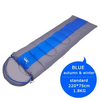 Standard 1.8KG blue-Camping Lightweight 4 Season Warm Cold Envelope Backpacking Sleeping Bag