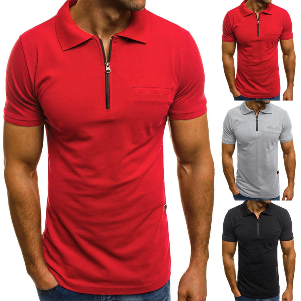 Womail Mens   t  -  shirt   Short summer Personality Casual Slim Short Sleeve Pockets   T     Shirt   Top Blouse   t  -  shirt   slime j29