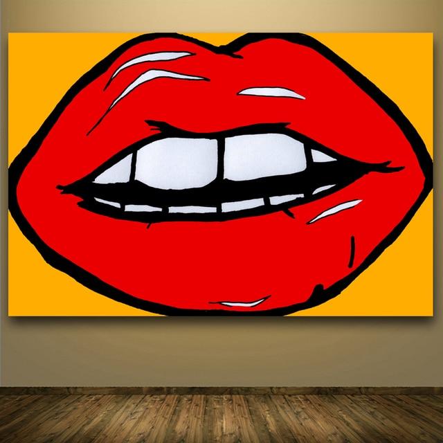 2016 Top Hotsale Andy Warhol Pop Art Lips Abstract