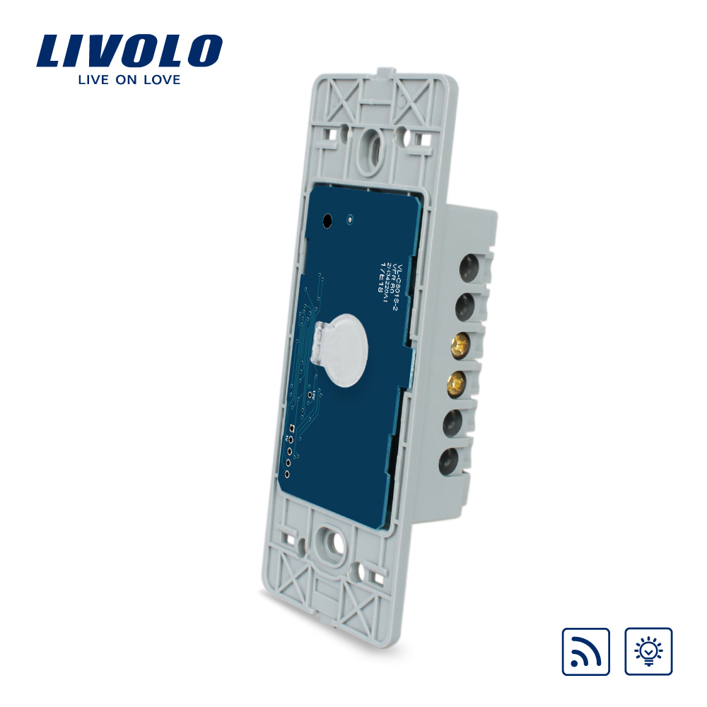 Livolo US standard 1 gang Wall Light Touch Dimmer Remote Switch, Without Glass Panel, ,VL-C501DR livolo us standard base of wall light touch screen remote switch ac 110 250v 3gang 2way without glass panel vl c503sr