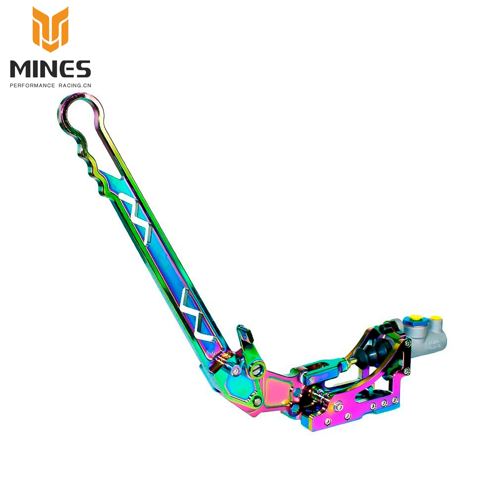 Neo Chrome Adjustable Vertical Hydraulic Drift Aluminum Handbrake With Gear + Special Master Cylinder(Handbrakes) ms100854-NC neo chrome adjustable e brake hydraulic drift racing handbrake hand brake vertical horizontal s14 ae86