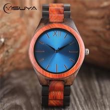 YISUYA Luxury Wooden Watches Man Bamboo Wood Creative Analog Japanese Quartz Wristwatch Fashion Sport Clock Relogio Xmas Gifts