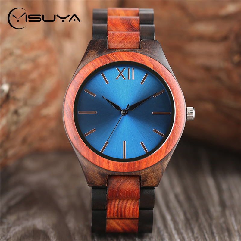 YISUYA Luksus Wooden Watches Man Bamboo Wood Creative Analog japanske - Herreklokker