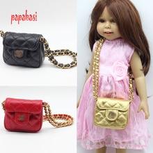 """Papabasi En Cuir d'épaule Simple sac Pour 18 """"American girl poupée paquets Sortants sac Accessoires"""