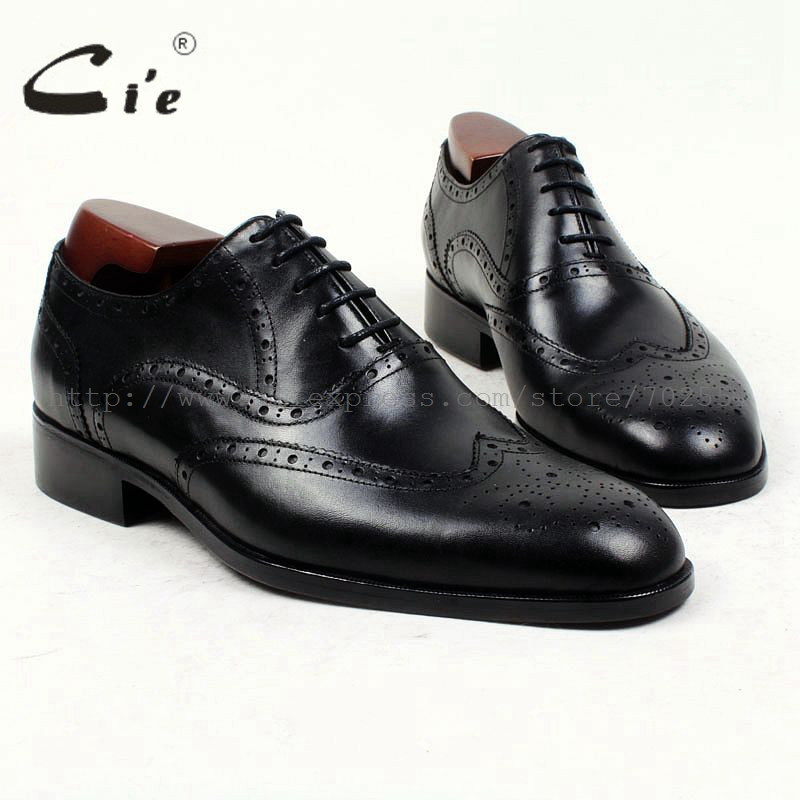 cie Round Toe Full Brogues Bespoke Custom Handmade Pure Genuine Calf Leather Men s Dress Oxford