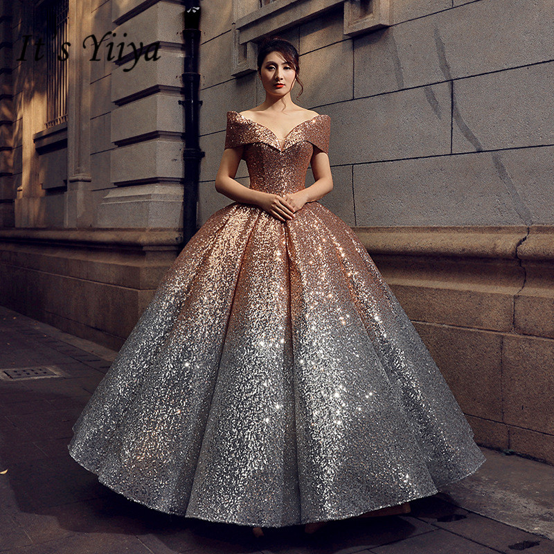 Golden Color Wedding Gowns: It's YiiYa New Gold And Silver Gradual Color Wedding