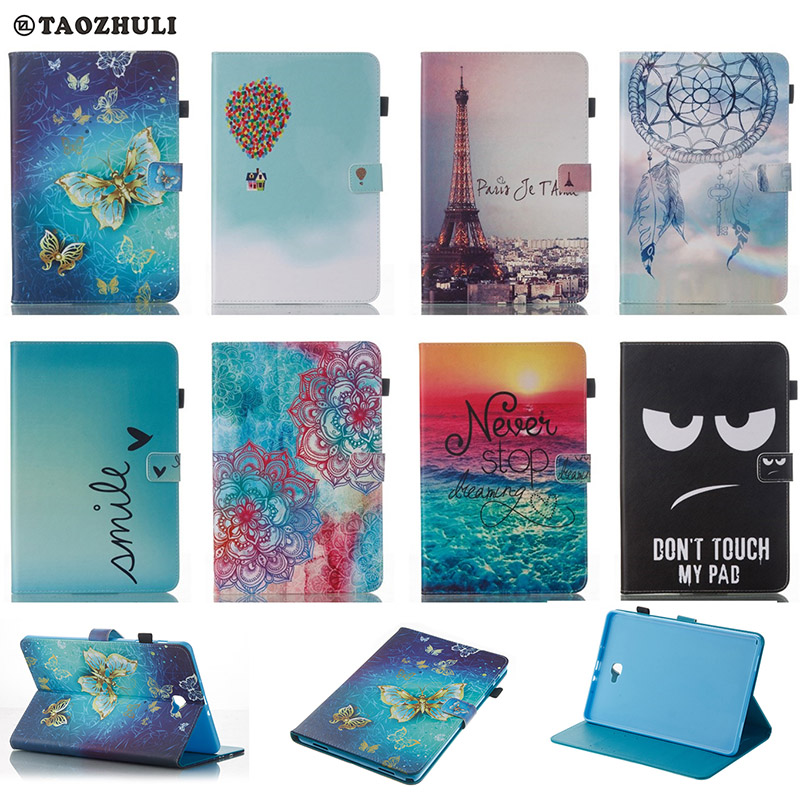 Lovely Pattern Wallet Flip PU Leather cover case For Samsung GALAXY Tab A 10.1 P580 P585 SM-P580 SM-P585 Tablet Shell Protector anime cartoon one piece sabo 25cm action figure collection pvc model children toy gift