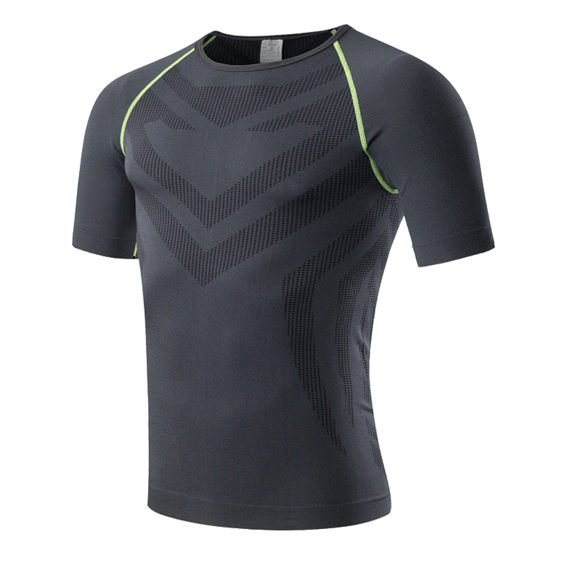 Compression shirt men seamless baselayer top tees for for Best athletic dress shirts